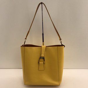 Dooney & Bourke Saffiano Lemon Yellow Leather Bag